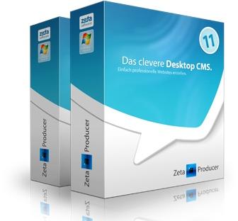 Professionelle Websites selbst erstellen mit Desktop CMS - Zeta Producer Desktop CMS
