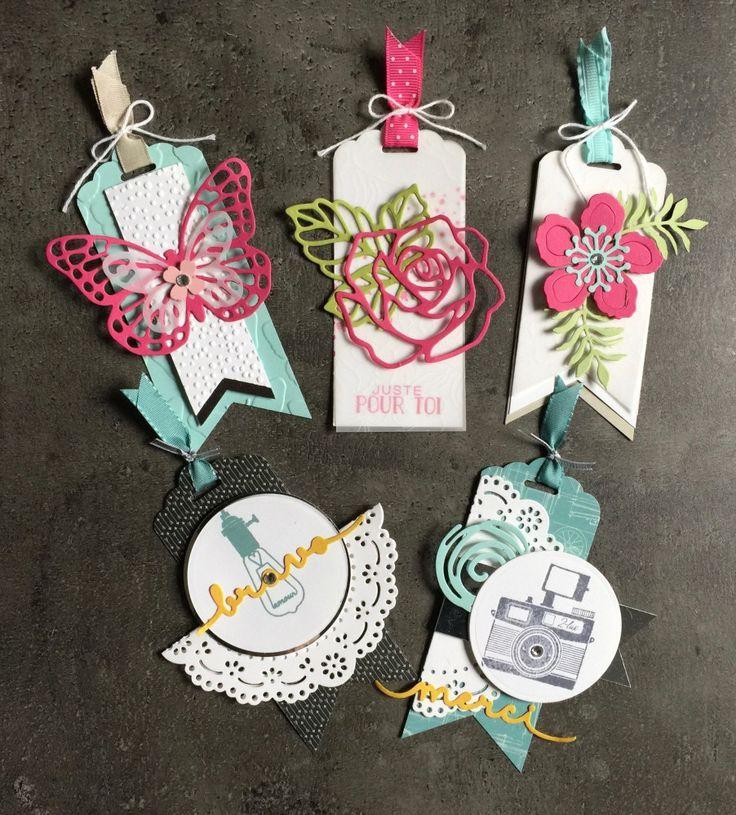 Etiquettes cadeaux TAG par Marie Meyer Stampin up - http://ateliers-scrapbooking.fr/