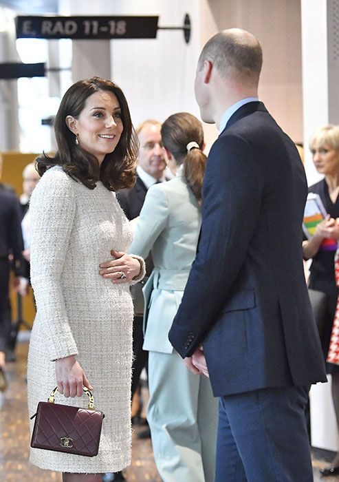 William and Kate appeared to be in great spirits as met with a team of experts to discuss Sweden's approach to managing mental health issues.