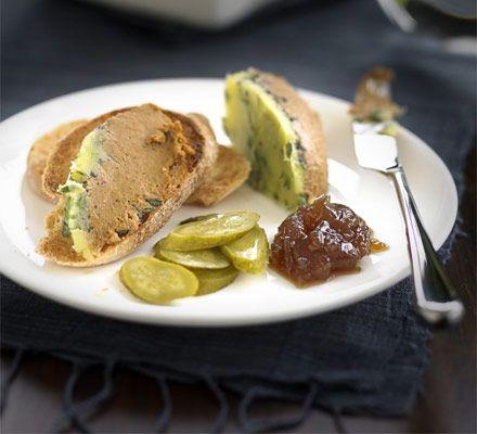 Velvety duck liver parfait recipe - Recipes - BBC Good Food