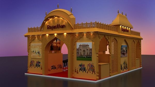 Rajasthan Tourism stall design on Behance