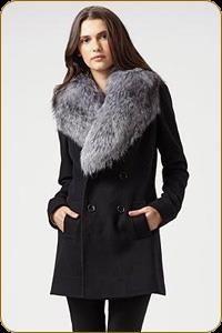 Зимние пальто с меховыми воротниками фото
