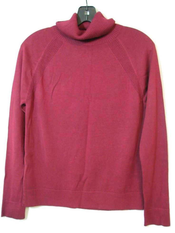 Very soft light turtleneck sweater  Banana Republic Turtleneck Ribbed Trim Red Burgundy Sweater Dressy