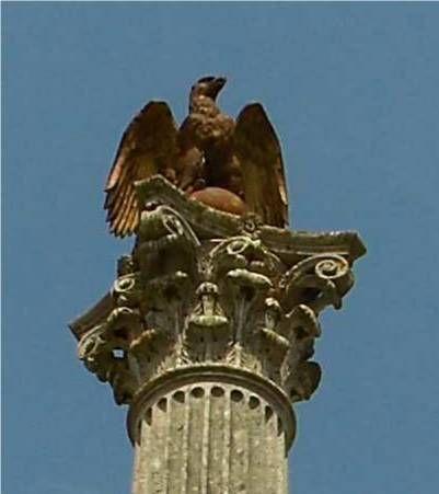 Montmirail - aigle de la colonne