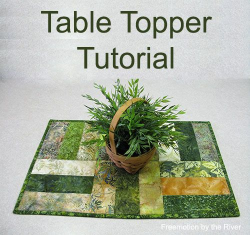 I never seem to get tired of making table toppers....especially out of batiks. I had a little bundle of batiks from Island Batik and I decided to do a quick and easy project with them.  The pieces wer