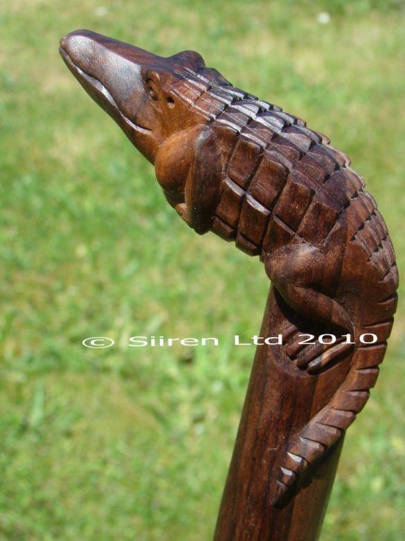 Fairtrade Solid Wooden Crocodile Walking Stick