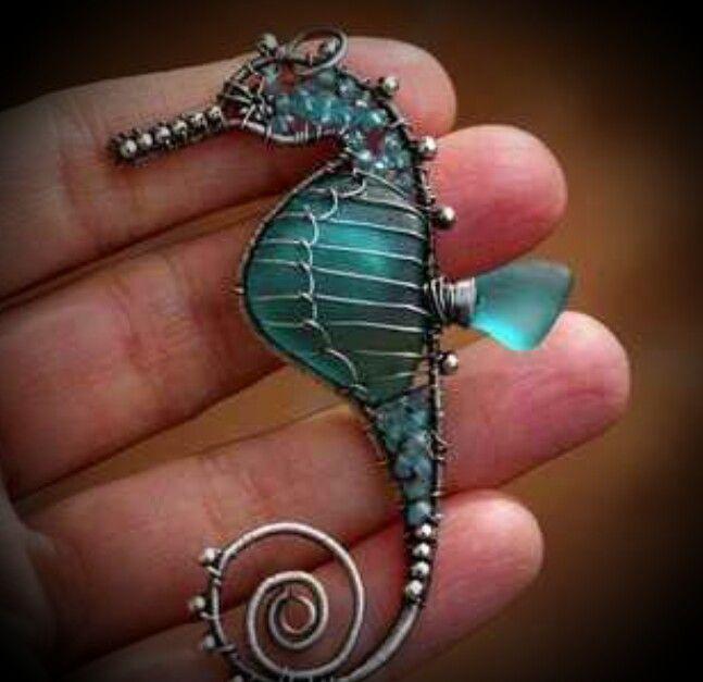 Pretty seahorse wire jewelry