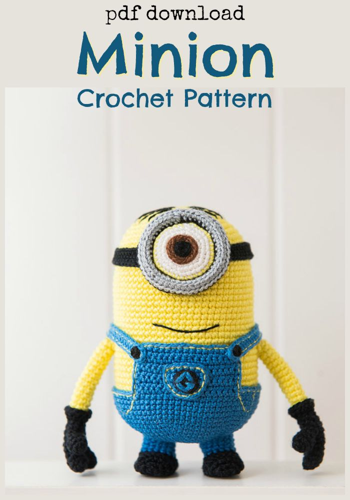 despicable me minion crochet pattern, free. | I Crochet | Pinterest ...