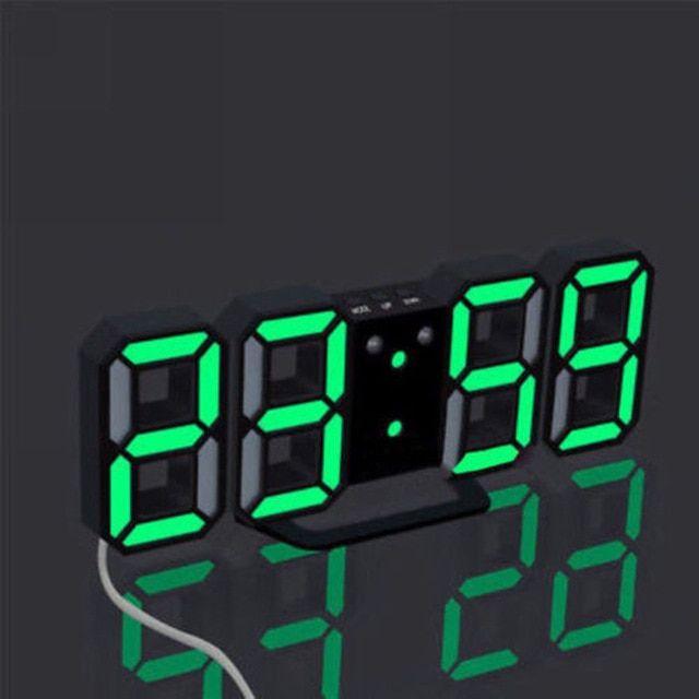 Modern Wall Clock Digital Led Usb Table Desk Night Alarm Clock 24