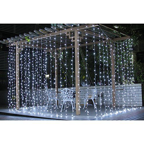 Luce della Stringa - 3Mx3M Striscia 300 LED 220V Curtain Light Sfondo Tenda Cortina-Stringa di Lampada per Interno Indoor Natale Festa Party Nozze Matrimonio Bianco 220V (Bianco) FlyRay http://www.amazon.it/dp/B016LWAFJG/ref=cm_sw_r_pi_dp_WoNKwb15GA466