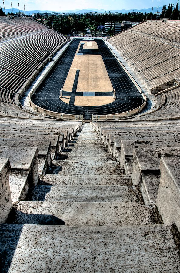 Kalimarmaro Stadium, venue of the first modern Olympics in 1896, Athens #Greece