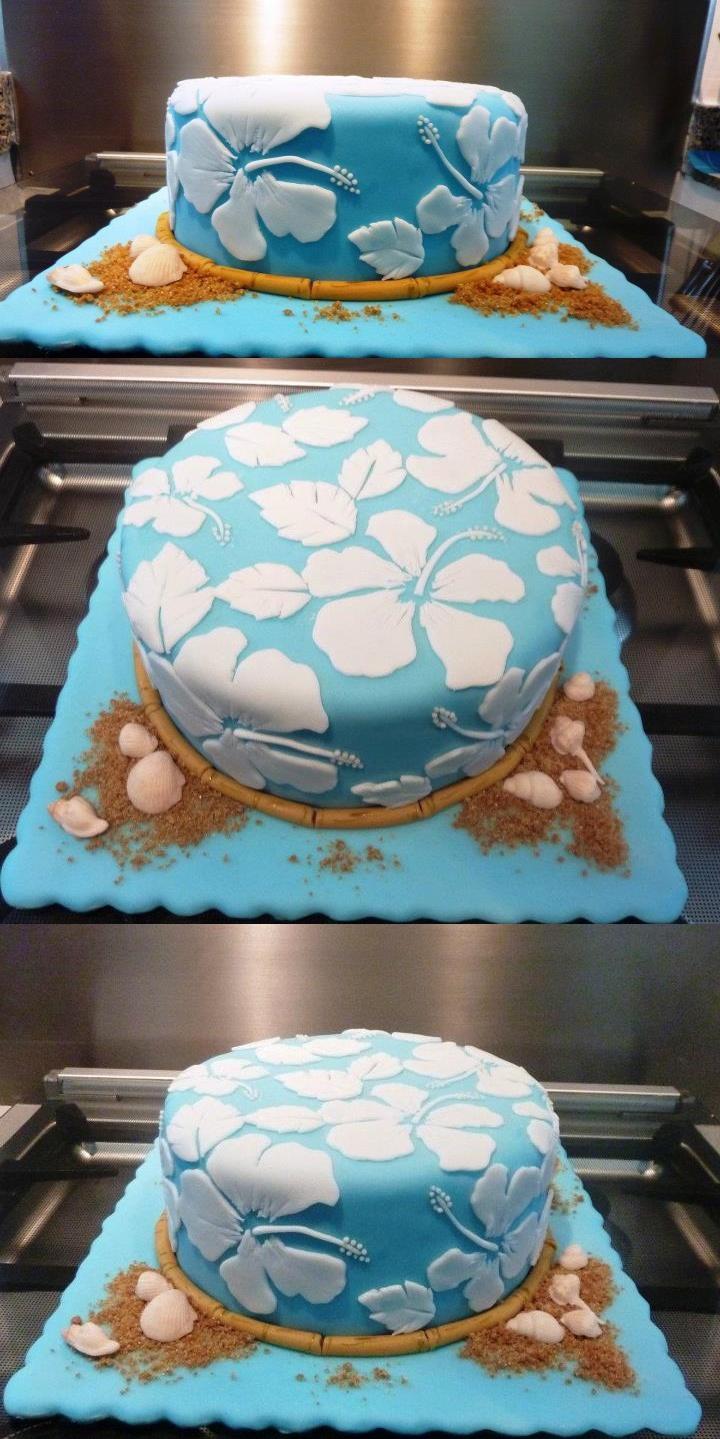 Hawaian Hibiscus Cake