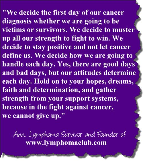 Fighting Cancer Quotes | Inspirational quote written by a two-time cancer survivor and founder ...
