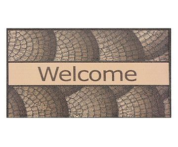 Capacho Welcome Marrom - 40X60cm
