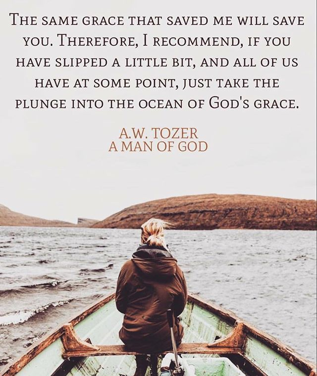 """A. W. Tozer. Ephesians 4:28: """"For by grace you have been saved through faith. And this is not your own doing - it is the gift of God."""""""