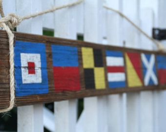 Custom Nautical Flag Sign- Name with 5 letters