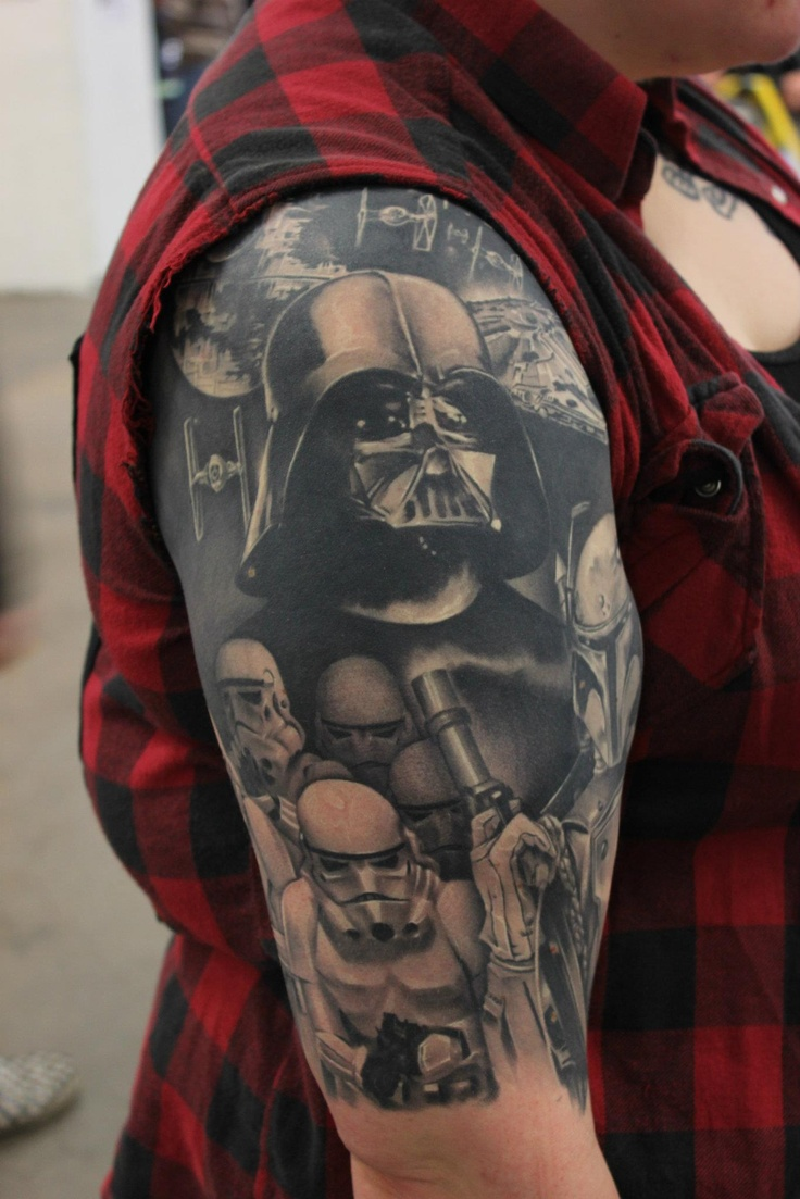ink tattoos the darkside darth vader stormtroopers
