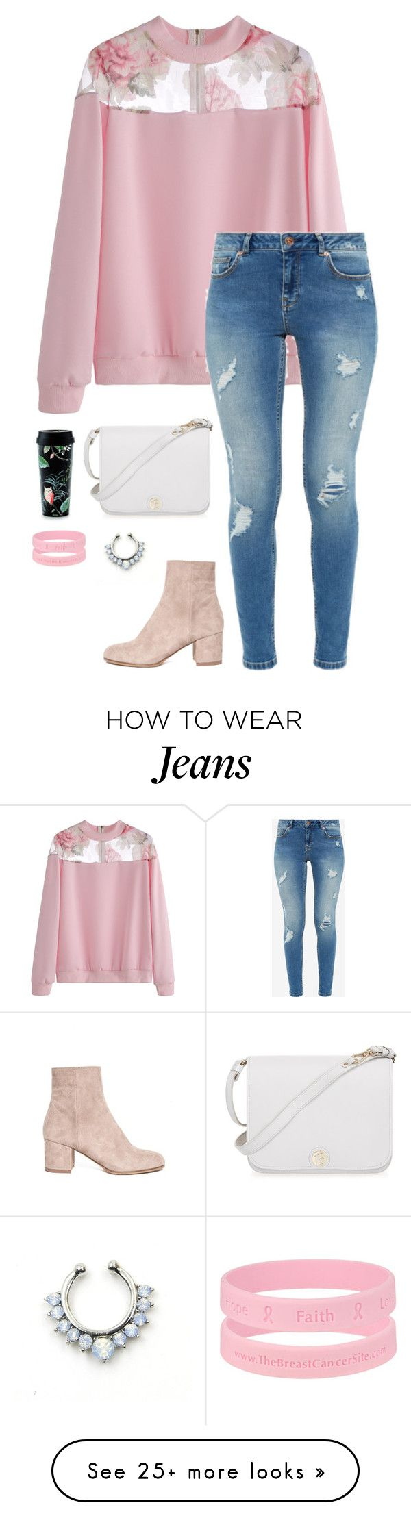 """""""Pink girl"""" by eellcat on Polyvore featuring Ted Baker, Kate Spade and Furla"""