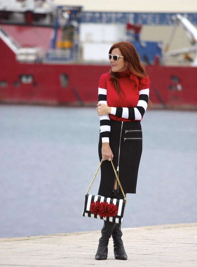 So cute by Guccisima: Stripes,red, black & white...
