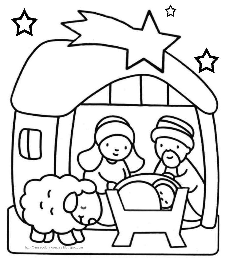 Best Printable Christmas Coloring Pages Nativity Scene