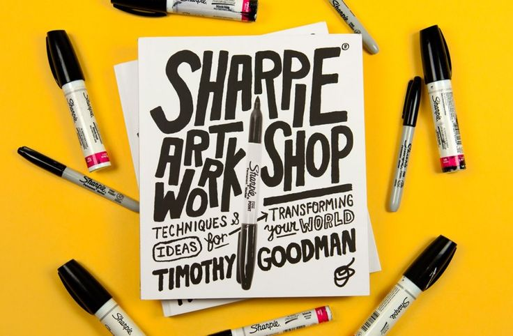 These 5 sharpie art exercises from Timothy Goodman's book will help get you started on your Sharpie drawing journey.