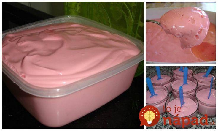 Perfektný recept na teplé jarné a letné dni. Jahodový krém, ktorý vyrobíte len za 5 minút z obyčajnej šumienky. Je to neskutočne jednoduché a výsledok fantasticky chutný!