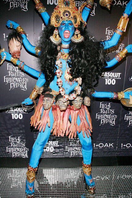 Heidi Klum as Kali    Best Celebrity Halloween Costumes - Hollywood and Fashion Halloween Costumes - ELLE