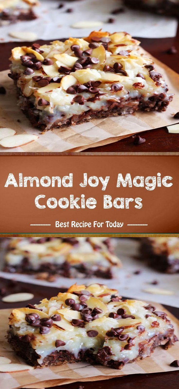 Almond joy magic cookie bars cookie bar recipes