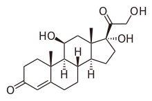 Estrutura química de Cortisol