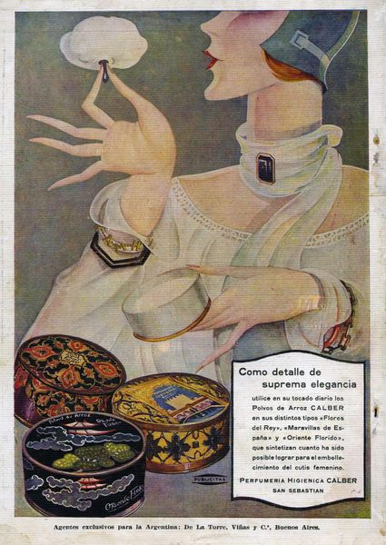 powder ad, 1920s they used a lot of make up in the 1920s