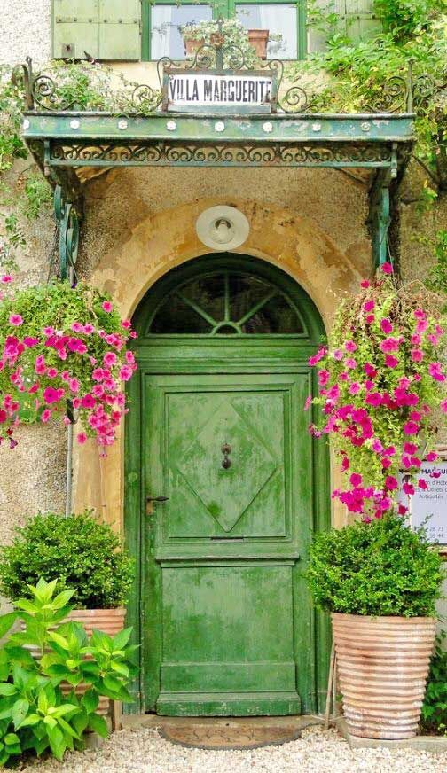 """""""Living Beautifully"""" Striking Entrance, Flowers And Natural Stone Are Welcoming"""