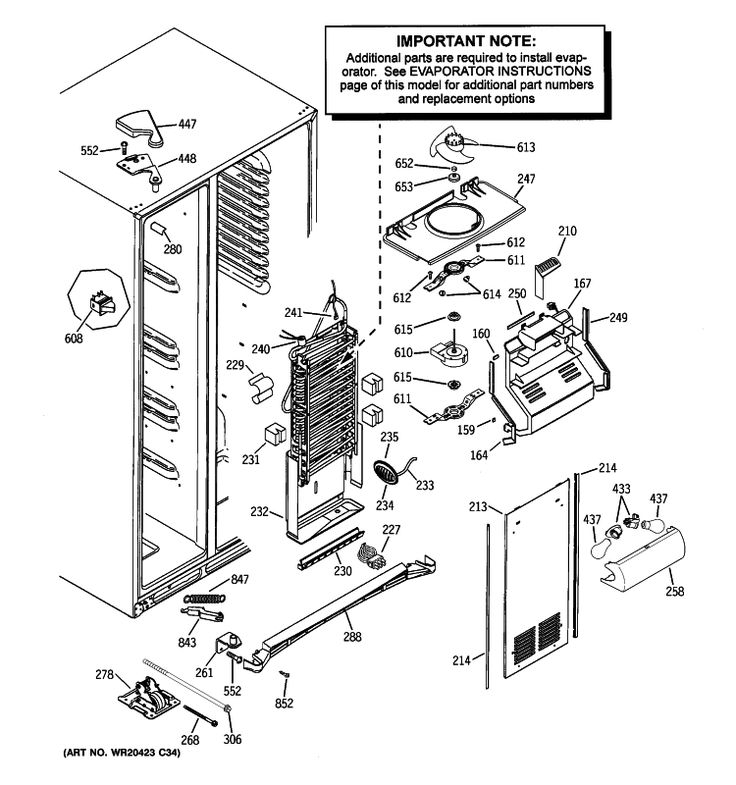 Ge Refrigerator Gscs3kgyafss Parts List