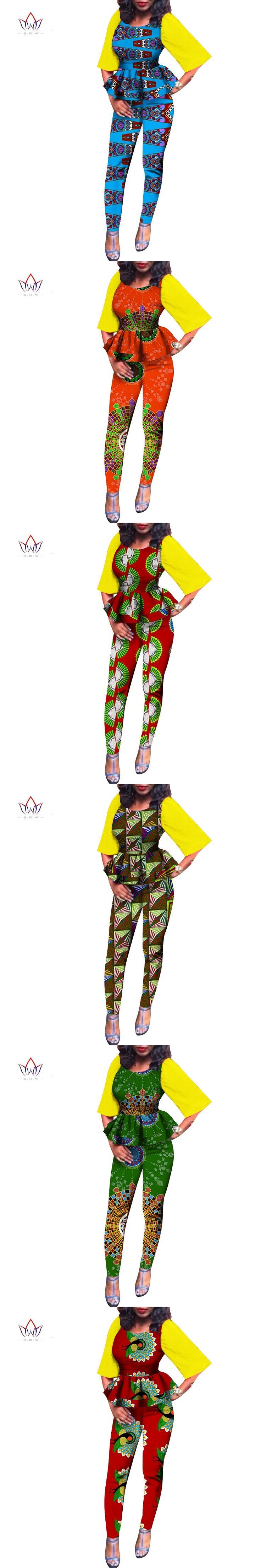 African Dashiki For Women Autumn Top And long Pants Set Women Suit Traditional African Clothing Print Dashiki Set regular WY805