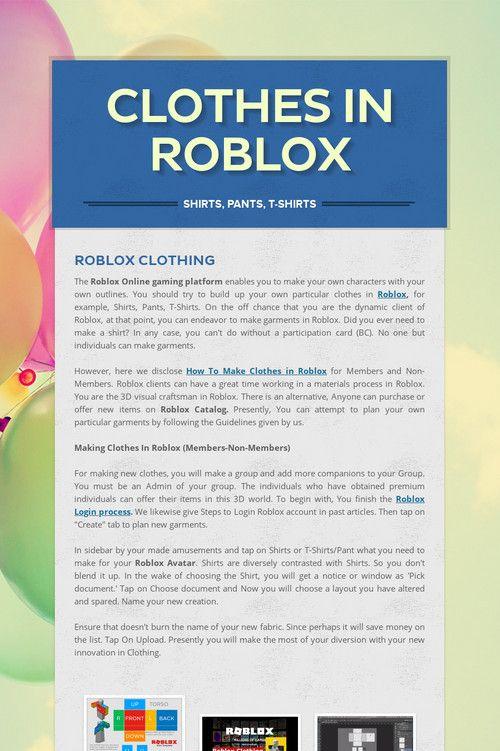 Clothes In Roblox Clothes In Roblox Clothes, Roblox shirt, Shirts