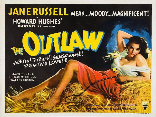 Carteles del cinema: EL FORAJIDO - The Outlaw - 1943 - Howard Hughes, Howard Hawks