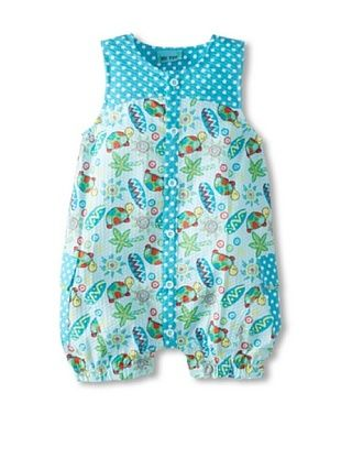61% OFF Me Too Baby Girl's Romper (Blue Floral)