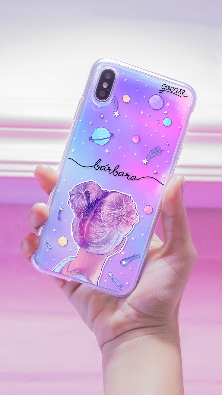 Handyhülle Holo Handyhülle – Girl In Orbit, Holographic …   – Phone case