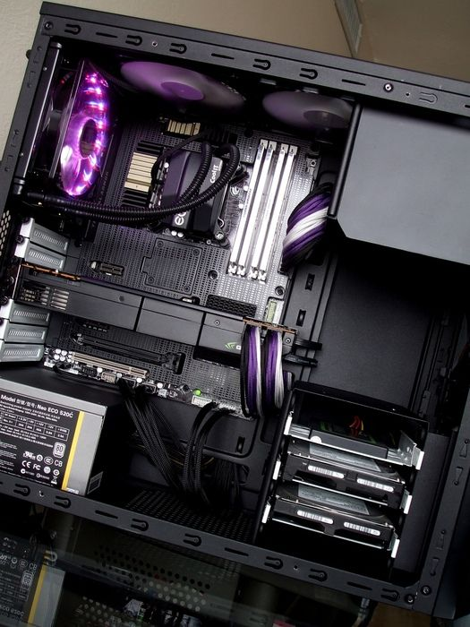 """The """"Thermal Armor"""" design on this motherboard + the custom sleeving makes this case mod POP!"""