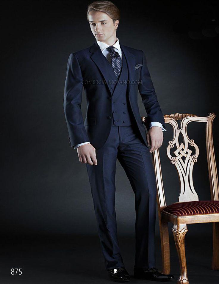 Горячая распродажа 2016 пользовательских мужчины свадебный костюм темно-синий тонкий резка свадьба смокинги мужской костюм жениха пиджак + брюки + жилет