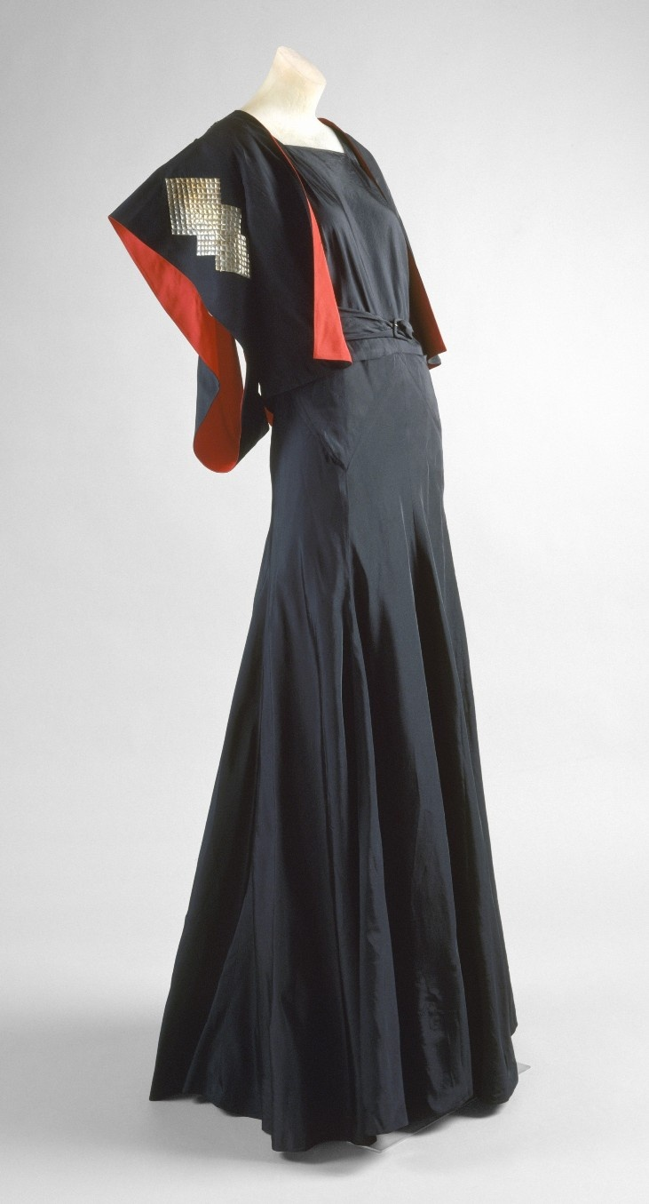 Evening Ensemble, Jeanne Lanvin (French, 1867–1946) for the House of Lanvin (French, founded 1889): ca. 1934, French, silk, metal.