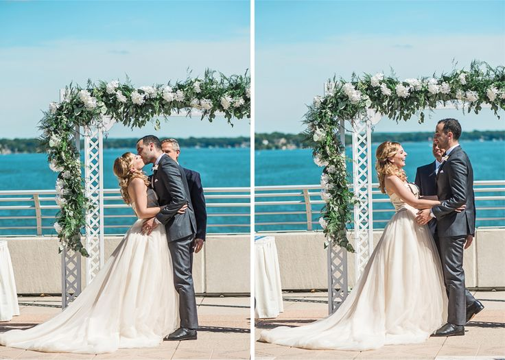 Aubree and Soha officially become a married couple on the Monona Terrace Rooftop. Photos courtesy of Larissa Marie Photography.