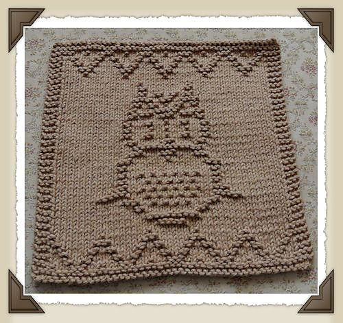 Knit Pattern For Owl Dishcloth : 263 best images about Knitting Owls on Pinterest Ravelry ...