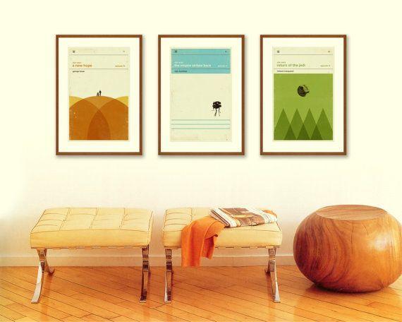 STAR WARS Inspired Poster, Art Print Movie Series - 12 x 18 Minimalist, Nursery, Graphic, Mid Century Modern, Vintage Style, Retro Home on Etsy, $60.00