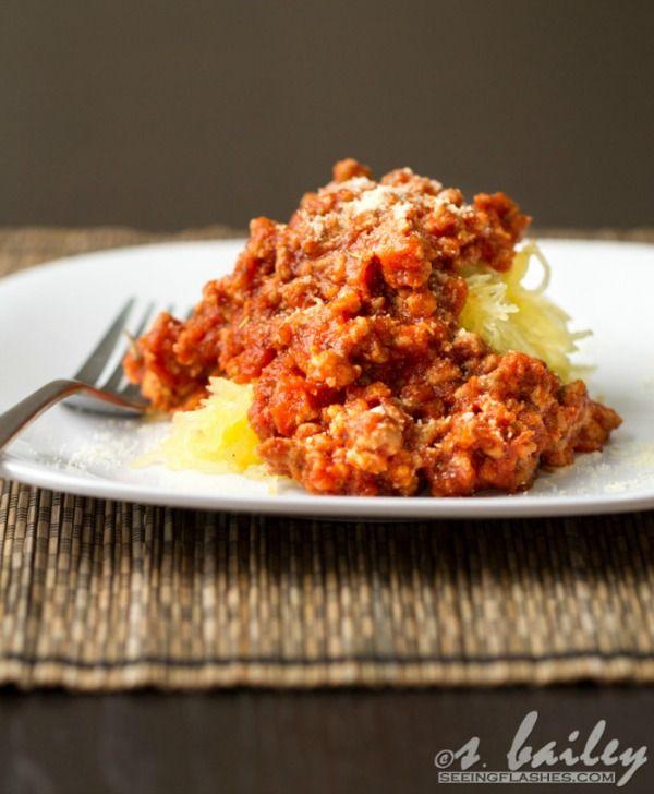 Spicy Spaghetti & Meat Sauce by Ari's Menu + more Easy Spaghetti Squash Recipes for Dinner!