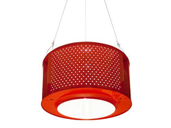 RED recycled drum lamp washing mashine by ekodizajn on Etsy