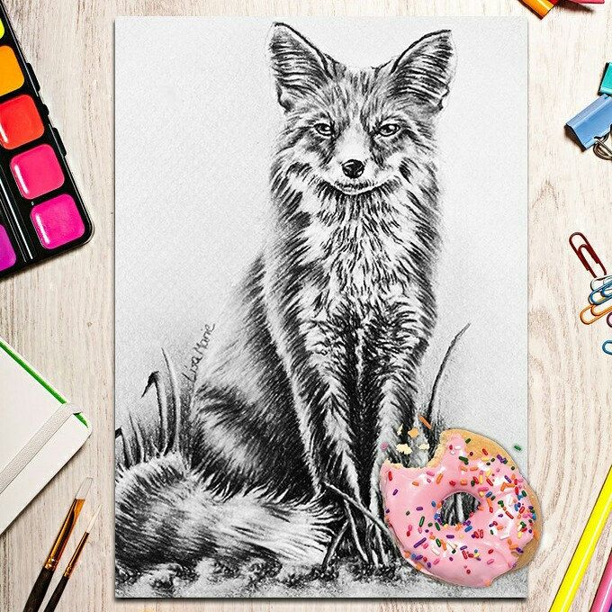 556 best Printable Coloring Pages Beautiful Animal Art images on - best of coloring page of a red fox