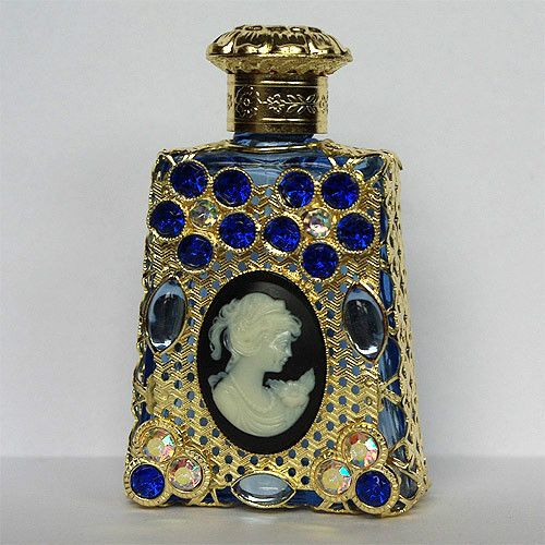 Czech Handmade Cameo Rhinestones Glass Perfume Bottle   eBay