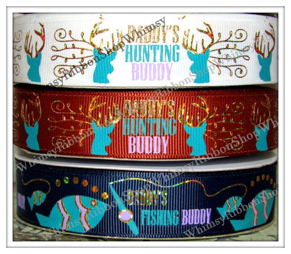 New 1 2 3 4 or 5 Yards Daddys Hunting Fishing by WhimsyRibbonShop