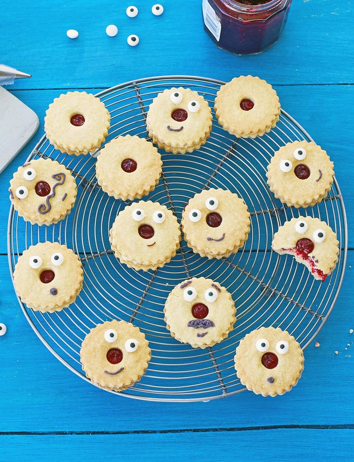 Red nose day jammie dodger biscuits will make your Comic Relief bake sale a hit.