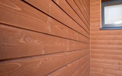 Topcoat®- siding UTW 23x145, siding is available in solid paint and semi trarnsparent colours.